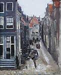 Max Liebermann: Zsidó negyed Amszterdamban (id: 19670) falikép keretezve