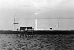 Naplemente a Balatonnál (1952) (id: 20170) falikép keretezve