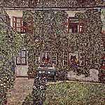 Gustav Klimt: Erdészház Weissenbach-ban (id: 2770) vászonkép óra