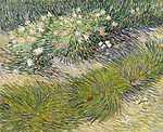 Vincent Van Gogh: Fű és pillangók (id: 2870) vászonkép óra