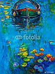 Csónak és vizililiomok (id: 4270) tapéta