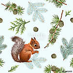 Winter squirrel pattern (id: 13171)