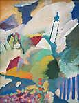 Vaszilij Kandinszkij: Murnaui templom (id: 19471) többrészes vászonkép