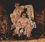Egon Schiele: Család (id: 2471) vászonkép óra