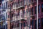 Tűzlétrák New York-ban (id: 3571) falikép keretezve