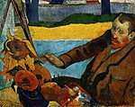 Van Gogh napraforgókat fest - színverzió 1. (id: 3971) poszter