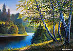 The wood river in summer day (id: 16072) falikép keretezve