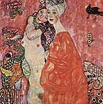 Gustav Klimt: Barátnők (részlet), 1916 (id: 2772) vászonkép óra