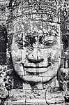 Detail of stone face in the Bayon temple at Angkor Wat vászonkép, poszter vagy falikép