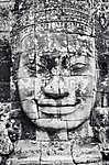 Részlet a kő arc a Bayon templom Angkor Wat (id: 5072) többrészes vászonkép