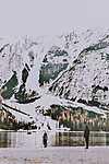 Téli séta a tónál (id: 16673) vászonkép óra