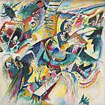 Vaszilij Kandinszkij: Absztrakt improvizáció (id: 19473) vászonkép óra
