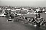 A Szabadság (Ferenc József) híd a Gellérthegyről nézve (1939) (id: 20173) falikép keretezve