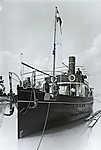 Siófok kikötő, a Jókai utasszállító csavaros gőzhajó próbaútján (1913) (id: 20273) falikép keretezve