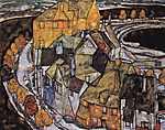 Egon Schiele: Város a szigeten (id: 2473) vászonkép óra