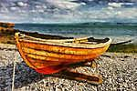 Csónak a parton - átdolgozás (id: 3773) tapéta