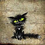 Fekete macska (id: 5273) vászonkép