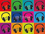 Headphones_Audio_Funds Színek (id: 5573) vászonkép