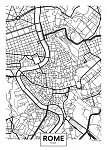 Vector poszter térkép város Róma (id: 11974)