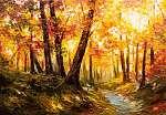Őszi erdő festmény (id: 13174)