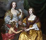 Anthony van Dyck : Lady Elizabeth és testvérének portréja (id: 19374) vászonkép