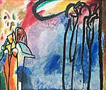 Vaszilij Kandinszkij: Improvizáció 19 (id: 19474) többrészes vászonkép