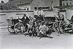 Tabán a felvétel az Aranykakas utca és az Ív utca találkozásánál lévő térnél készült (1912) (id: 20274) tapéta