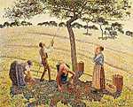 Camille Pissarro: Almaszüret Eragny-ban (id: 2674) tapéta