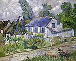 Paul Cézanne: Ház Auvers-ben (id: 2874) falikép keretezve