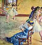 Edgar Degas: Balett lecke Madam Cardinal-nál (id: 874) vászonkép