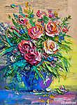 Oil painting flowers (id: 15975) vászonkép óra
