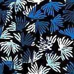 Partner Kollekció: Korall motivumok sötét alapon - kék árnyalatok  (id: 18175) tapéta