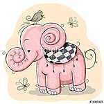 Pink Elephant (id: 19075) falikép keretezve