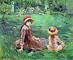 Berthe Morisot: A kertben, Maurecourt-ban (id: 1975) vászonkép óra