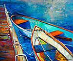 Csónakok és móló (id: 4375) falikép keretezve