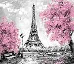 Olajfestmény, Párizs. európai városi táj. Franciaország, Háttérk (id: 10276) vászonkép