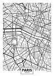 Vector poszter térkép város Párizs (id: 11976)