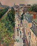 Maximilien Luce : Párizsi utca (id: 12076) vászonkép óra