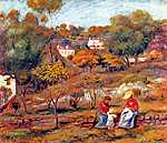 Pierre Auguste Renoir: Cagnes-i tájkép (id: 1376)