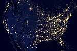 Az Egyesült Államok az űrből - NASA felvétel (id: 17276)