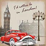 London retro poster. (id: 19176)