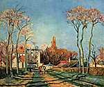 Camille Pissarro: Faluszéle (1872) (id: 2676) vászonkép