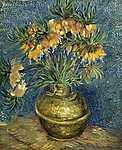 Vincent Van Gogh: Császár virág vázában (id: 2876) vászonkép óra