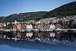 Bryggen kikötője, Norvégia (id: 3676) falikép keretezve