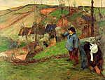 Paul Gauguin: Bretoni tájkép (1888) (id: 3976) falikép keretezve