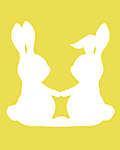 DIY - Húsvéti nyuszipár, sárga háttérrel 2. (id: 4076) poszter