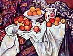 Paul Cézanne: Csendélet almával és naranccsal (id: 476) vászonkép