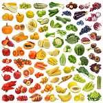 A gyümölcsök és zöldségek szivárványgyűjteménye (id: 10677) falikép keretezve
