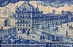 Ancient ceramic tile, Lisbon, Portugal. (id: 13377) tapéta