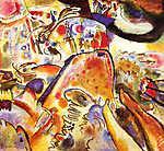 Vaszilij Kandinszkij: Apró örömök, absztrakt festmény (id: 14277) falikép keretezve